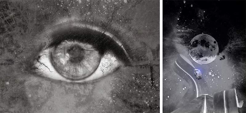 """pour aller sur le site de jean marc Le Gac Fusain et graphite Illustration extraite du livre """"Nuits Blanches"""" Jean-Marc Le Gac"""